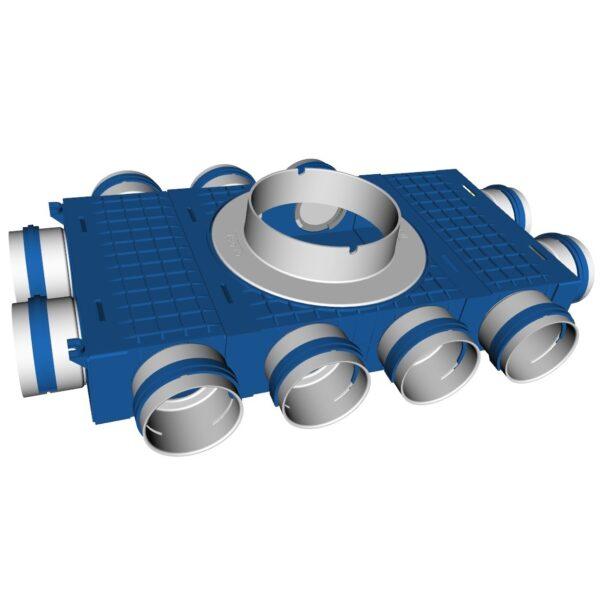 Plenum distribuitor modular Ventiflex 3-18×75 mm