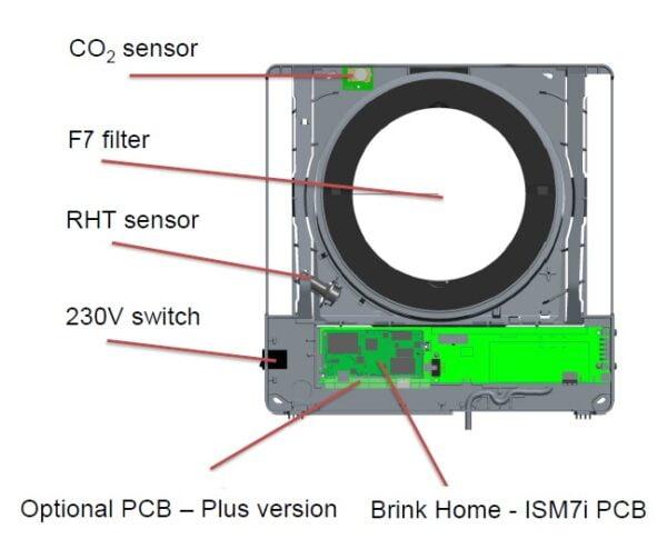 recuperator caldura brink air70 accesorii optionale