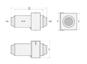 filtru electrostatic schita