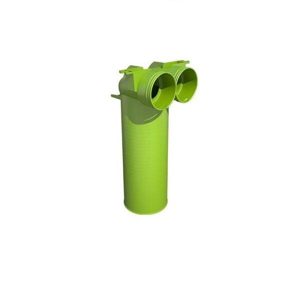 Plenum la 90° pentru tubulatura rotunda DN 2×90 – DN 125, Brink