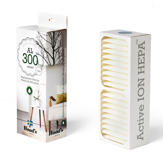 filtru active ion hepa woods 300